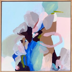 Blue Fizz   Framed Canvas Print   Prudence De Marchi