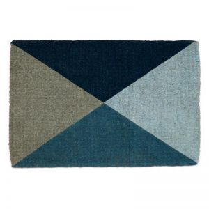 Blue Flag | 100% Coir Doormat | 60x90 CM | Fab Habitat