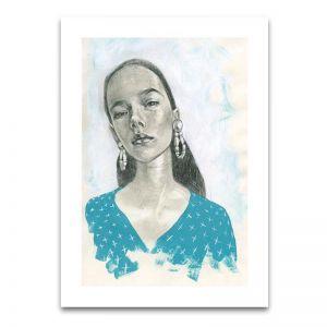 Blue Girl 2 | Limited Edition Unframed Print | by Steve Cross