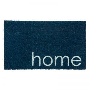 Blue Home PVC Backed Coir Door Mat | Welcome Mat | Entry Mat | Fab Habitat