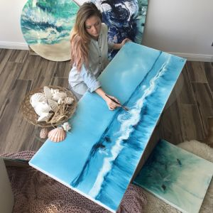 Blue Horizon | Original Resin Artwork
