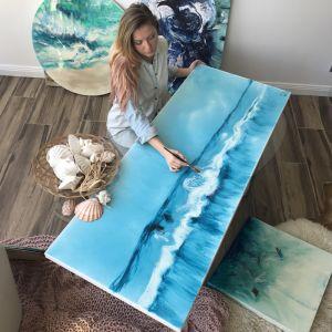 Blue Horizon   Original Resin Artwork   Antuanelle
