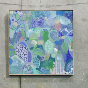 Blue Lotus | Framed Art Print by Jonathan Gemmell