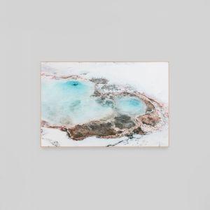 Blue Spring | Framed Canvas Print
