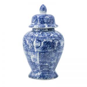 Blue Washed Ginger Jar