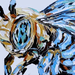 Bluethumb Original | Blue Banded Bee by Lisa Fahey
