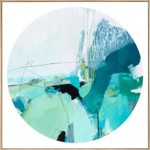 Bluethumb Original | Remember | Green Blue Abstract by Stephanie Laine