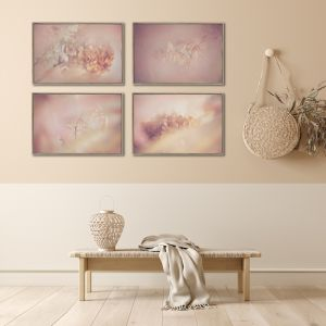 Blush Dreams 5 | Set of 4 Art Prints | Unframed