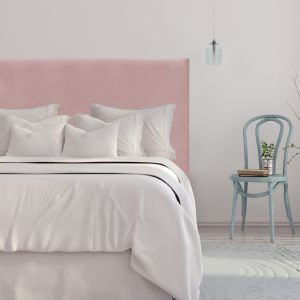 Blush Pink Velvet Smooth Upholstered Bedhead | All Sizes | Custom Made by Martini Furniture