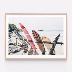 Boards On The Beach | Framed Print | 41 Orchard
