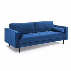 Bogart 3 Seater Sofa | Dark Blue Velvet