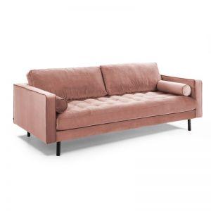 Bogart 3 Seater Sofa | Pink Velvet