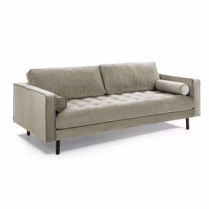 Bogart 3 Seater Sofa | Taupe Velvet
