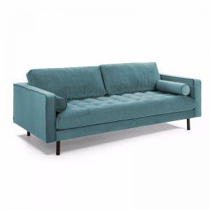 Bogart 3 Seater Sofa | Turquoise Velvet