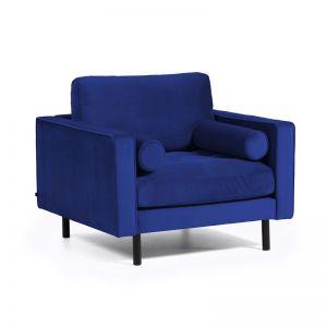 Bogart Armchair | Blue Velvet