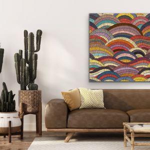 Bohemian Waves Print Four |  Beautiful Bohemian Style Coloured Print