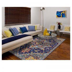 Boho Blue Violet | Hand Tufted Wool Rug