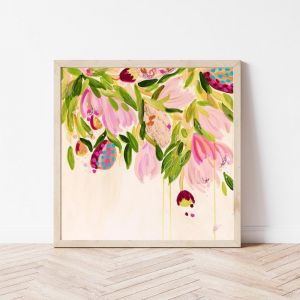 Boho Bouquet Limited Edition Square Print Unframed