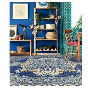 Boho Steel Blue | Hand Tufted Wool Rug