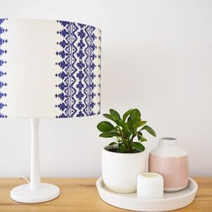 Bold Blue & White | Lampshade