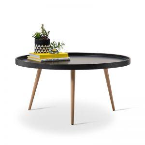 Bolo Round Tray Coffee Table | Black