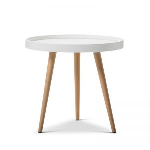 Bolo Round Tray Side Table | White
