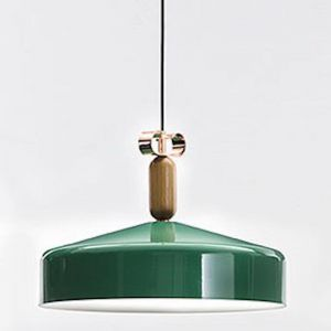 Bon Ton Pendant | Wide | Gloss Green