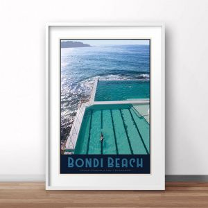 Bondi Beach Pool | Art Poster | Unframed and Framed