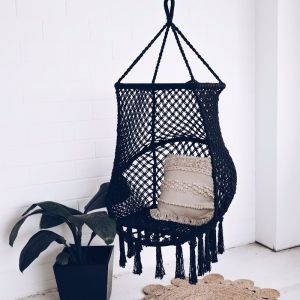 Bondi Macrame Chair Swing | Black