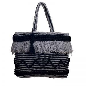 Bondi Oversized Bag   Black and Grey   BY SEA TRIBE