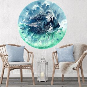 Bondi Surf Light   Round Perspex Print   Antuanelle