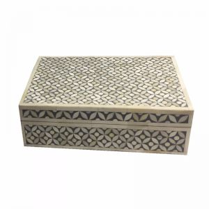 Bone Inlay Box in Celtic/Grey