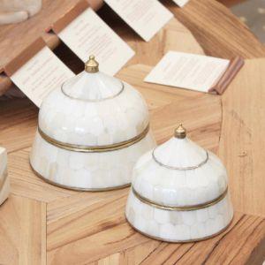 Bone Inlay Trinket Boxes | by Raw Decor