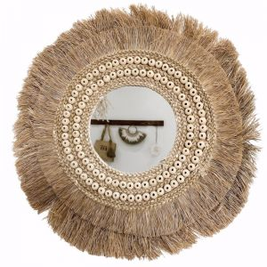 Bora Bora Rope Beaded Mirror