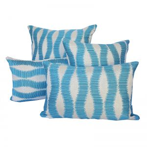 Bora Bora Turquoise | Sunbrella Fade and Water Resistant Outdoor Cushion | Outdoor Interiors