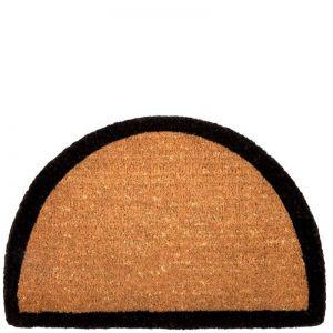 Border Half Round Doormat   100% Coir   60 x 90cm