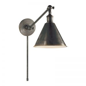 Boston Functional Single Arm Library Light | Bronze | by The Montauk Lighting Co.