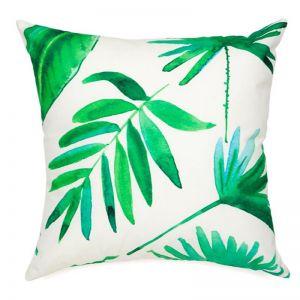 Botanica Green Outdoor Cushion | 45x45 cm | Insert Included | Free Shipping | Fab Habitat