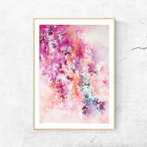 Bougainvillea | Abstract Art Print by Tina Koresis