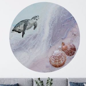 Bounty Turtle   Limited Edition   Round Acrylic Perspex Print