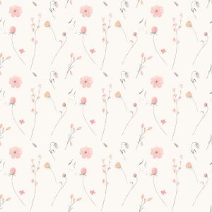 Bouquet Cream Wallpaper