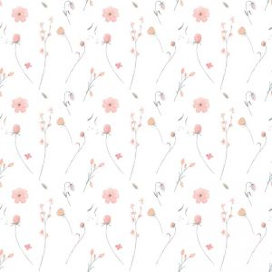 Bouquet White Wallpaper