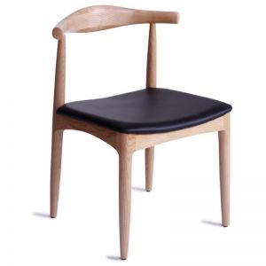 Bow Dining Chair | Natural Solid American Ash w/ Black Pad