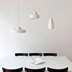 Box Ceramic Pendant Light Replica | White