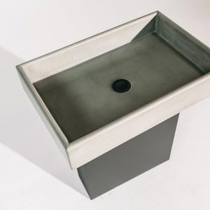 Box Sink by Nood Co | Blush Pink, Mid Tone Grey and Charcoal