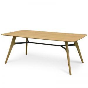 Brad 2m Dining Table   Natural - Black   Interior Secrets