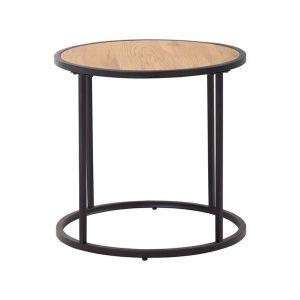 Bradford Side Table | 45cm | Natural & Black
