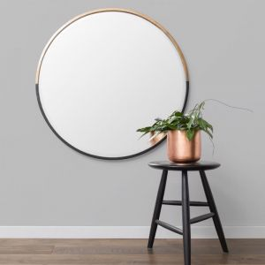 Brass and Black | Round Mirror 60, 90 & 110 cm