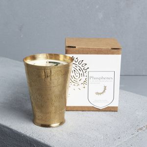 Brass Lassi Cup | Soy Wax Candle | Coconut & Lime