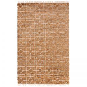 Breezeblock Weave Rug | Straw | by Amigos de Hoy